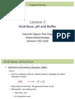 Lecture 3 Acid Base