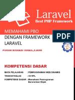 Materi Presentasi Pemrograman web dinamsi menggunakan Framework Laravel