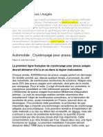 Dévulcanisation & Cryobroyage