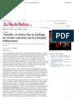 «Parsifal» se ofrece hoy en Santiago en versión concierto con la Liverpool Philharmonic