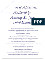 A Book of Aphorisms by Anthony St. John; Third edition