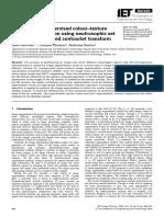 Scheme for unsupervised colour–texture image segmentation using neutrosophic set and non-subsampled contourlet transform