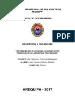 INFORME-COMUNICACIÓN-TERAPÉUTICA