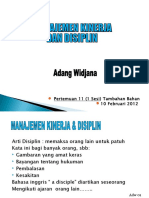 Manajemen Kinerja Dan Disiplin(11) 10 Feb12