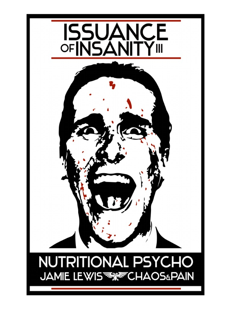 7efe825e95c3 Jamie Lewis - Issuance of Insanity III - Nutritional Psycho 1.pdf   Diets    Nutrición