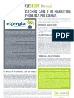 I servizi di customer care e di marketing relazionale di PhonEtica per Exergia