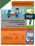 Obligaciones Formales de La Intermediacion Laboral