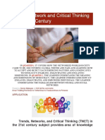 Trends, Network and Critical Thinking in the 21st Century