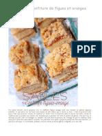 Biscuit Sablé Confiture de Figues Oranges _ La Cuisine de Djouza