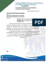 832938 Oficio n 01002017 Pago de Servicios Realizados Por Terceros Mes de Enero2017 Jhon Santillan Saavedr Gerencia de Administracion y Finanzas
