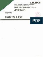 Partslist Juki DLU 5490N 6