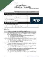 Bài tập Chuyển động thẳng đều lớp 10D4
