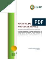 Manual de Automatricula Unap
