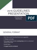 APA Guidelines Presentation