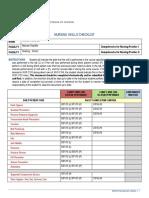 nursing skills checklist watterson 2017
