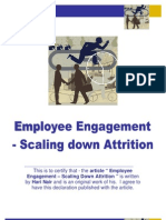 Employee Engagement – Scaling Down Attrition