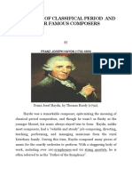 The Music of Classifical Period and Period and Their Famous Composers
