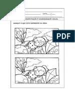 Atividades de Atenção Concentração e Discriminação Visual