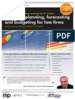 Financial planning, forecasting and budgeting for law firms