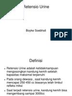 Retensio Urine