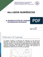 Lagrange Diferencias Divididas