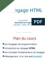 Langage de Programmation HTML