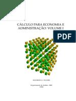 Cálculo I Para Economía y Administración Volume I