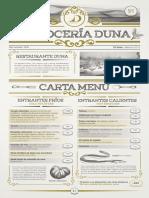 Carta Arroceria Duna