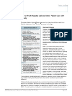 Case Study Not for Profit Hospitals