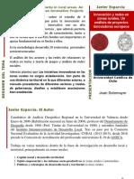 Javier Esparcia Innovacion y Redes en Zonas