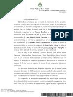 La resolución del juez Lijo que ordenó la detención de Amado Boudou