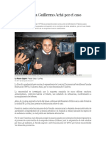 Aprehenden a Guillermo Achá Por El Caso Taladros