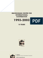 Macedonian Center for International Cooperation 1993-2003