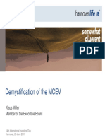 Demystification of the Market Consistent Embedded Value (MCEV)