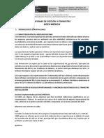 Informe Gestion Mexico IIITrimestre