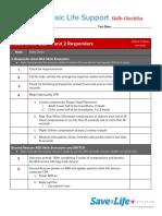 BLS Skills Checklist