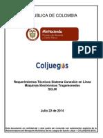 Requerimientos Tecnicos Sistema Conexion en Linea MET - SCLM V4.4 22072014