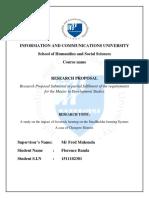 156. Research Proposal - Livestock Farming