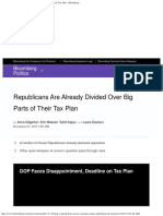 Republicans Are Already Divided Over Big Parts of Their Tax Plan - Bloomberg