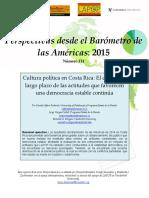 Alfaro R., Vargas-Cullel J. y Seligson M. - Cultura Política en Costa Rica. El Declive de Largo Plazo de Las Actitudes Que Favorecen Una Democracia Estable Continúa