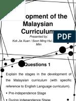 Development of Malaysia Curriculum