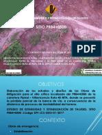 Estudio de estabilidad y estabilización de taludes PR84+0500