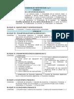 PROGRAMA DE MATEMÁTICAS 1 y 2