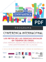 Programa General Centroamerica