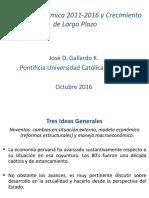 Politica Economica 2014-2016 y Crecimiento de Largo Plazo - 2016