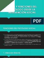 Funciones Del Psicologo Social