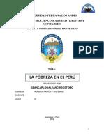 Pobreza en El Perú Monografia