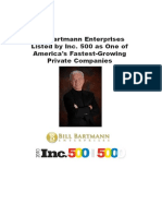 Bill Bartmann Enterprises Listed by Inc. 500 as One of America's Fastest-Growing Private Companies