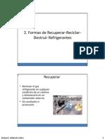 Formas de Recuperar Refrigerantes