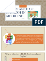 Importance of English in Medicine